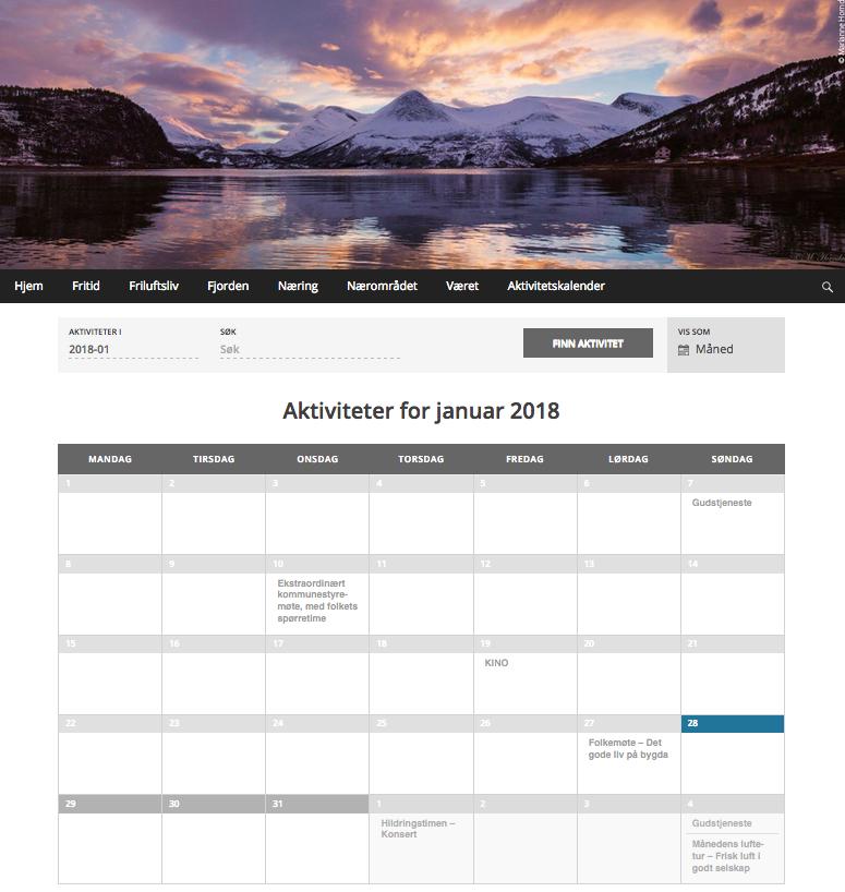 Kalender januar 2018